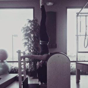 Nathalia - headstand on Ladder Barrel