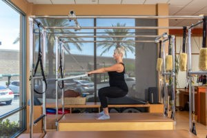 Prenatal Pilates Squats on the Cadillac
